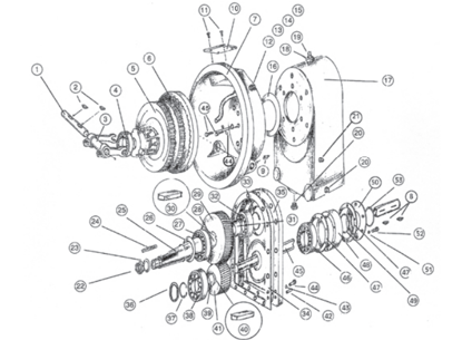 Picture of Dual Stage Transmission with Clutch Assembly - Parts