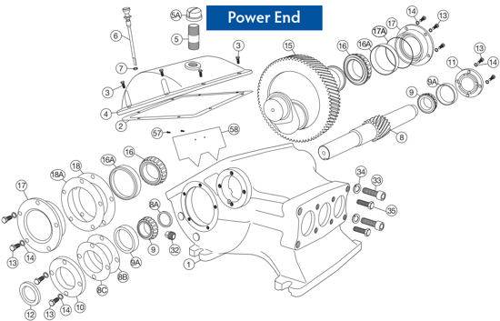 Picture of D65-20 – Power End – Replacement Parts
